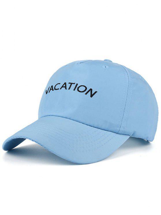 Gorra de béisbol bordado impermeable de las letras - Azul