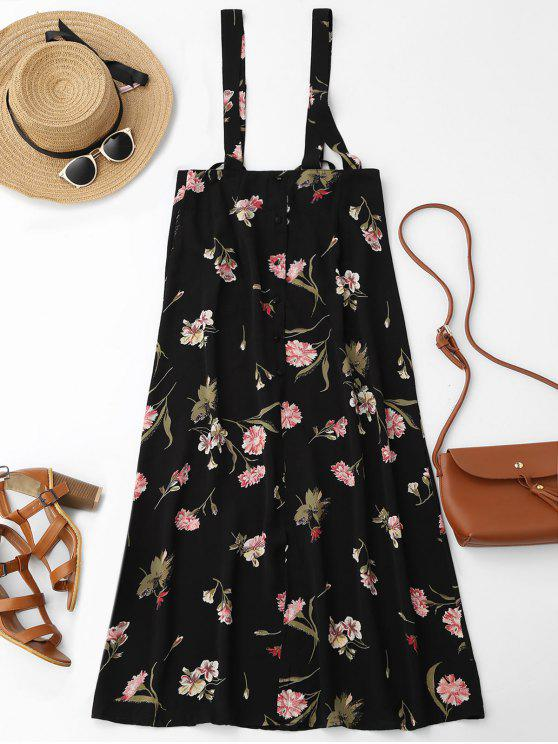 ladies Floral Maxi Suspender Skirt - FLORAL L