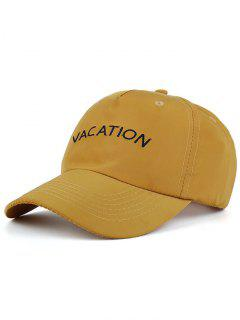 Waterproof Letters Embroidery Baseball Hat - Ginger