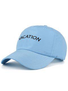 Waterproof Letters Embroidery Baseball Hat - Blue