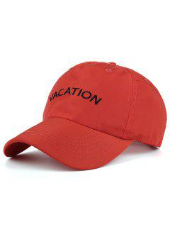 Waterproof Letters Embroidery Baseball Hat - Red