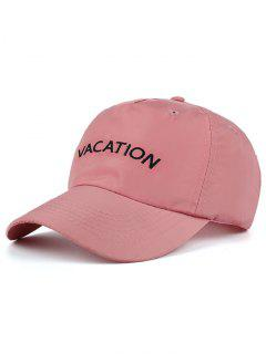 Waterproof Letters Embroidery Baseball Hat - Pink