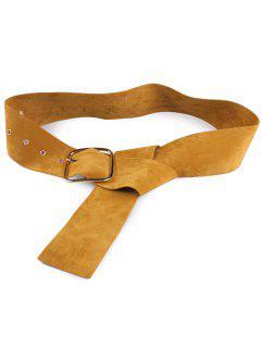 Velvet Metal Rectangle Pin Buckle Belt - Earthy