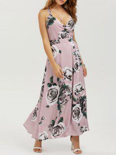 Vestido Maxi Floral De Playa Con Tiras - Floral M