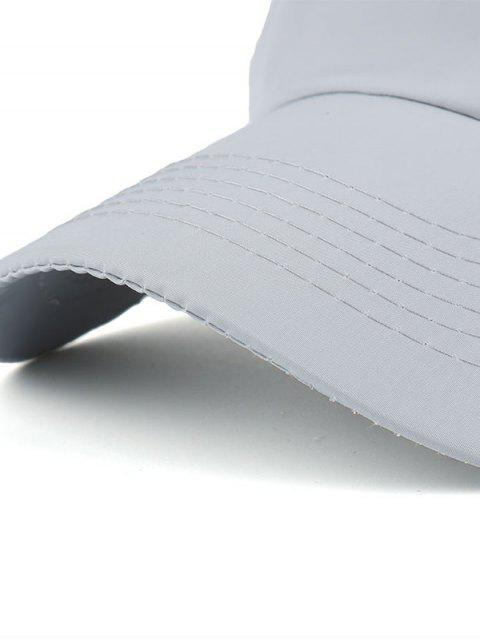 Lettres imperméables Broderie Baseball Hat - Gris Clair  Mobile