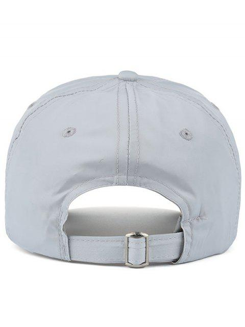 fashion Waterproof Letters Embroidery Baseball Hat - LIGHT GRAY  Mobile