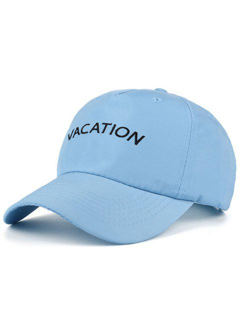 chic Waterproof Letters Embroidery Baseball Hat - BLUE  Mobile