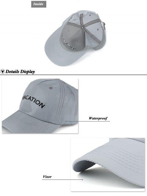 sale Waterproof Letters Embroidery Baseball Hat - BLACK  Mobile