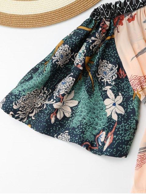 Blouse florale à épaules dénudées - Floral S Mobile