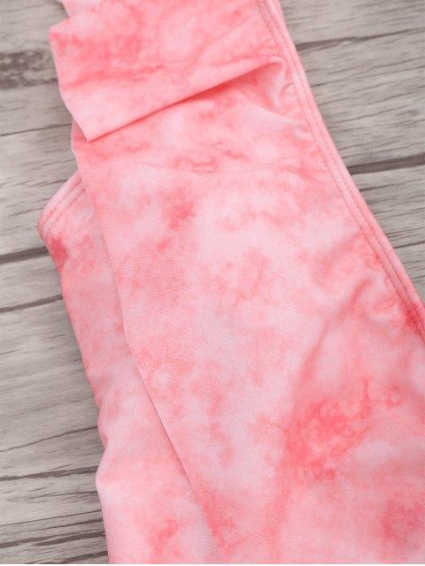 maillots de bain à une pièce à col plogeant à volants - ROSE PÂLE M Mobile