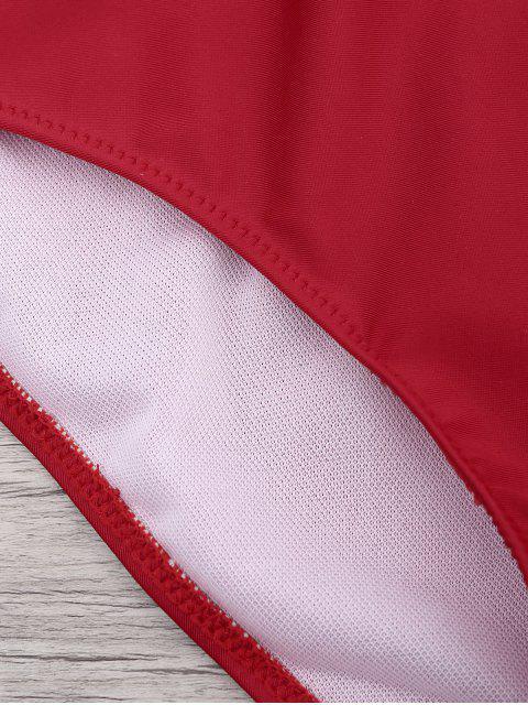 Maillot de Bain à une pièce à lacet - Rouge S Mobile