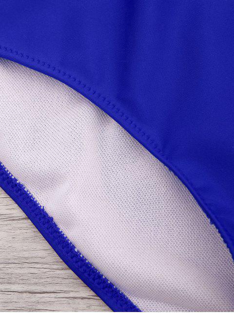 Maillot de Bain à une pièce à lacet - Bleu saphir XL Mobile
