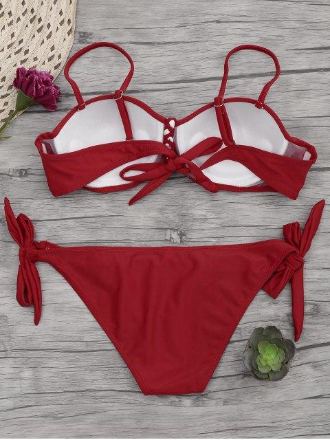 Bikinis avec armature sous-Cup tressé - Rouge M Mobile