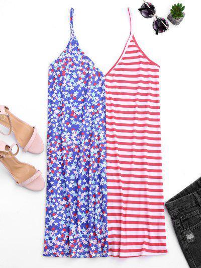 Cami V Back American Flag Dress - Multi S
