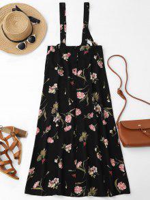 Floral Maxi Suspender Skirt - Floral S