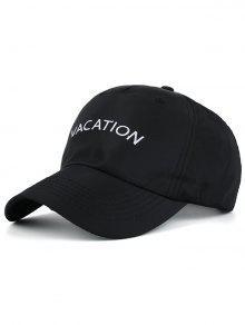 خطابات ماء التطريز قبعة بيسبول - أسود