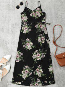 Robe Portefeuille Mi-longue Florale - Floral S