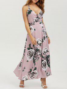 Vestido Maxi Floral De Playa Con Tiras - Floral S