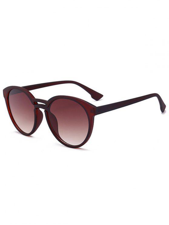 نظارات شمسية مضادة لأشعة الشمس - الإطار البني + رمادي عدسة