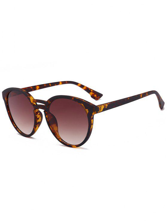 womens Anti UV Retro Double Crossbar Sunglasses - LEOPARD+ DOUBLE DARK BROWN