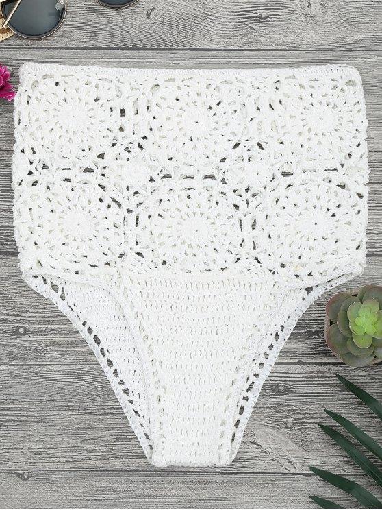 2019 Bikini De Ganchillo De Alta Cintura en Blanco Única Talla ...