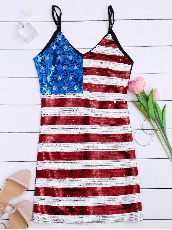 فستان علم أمريكي ترتر نادي وطني - أسود حجم واحد