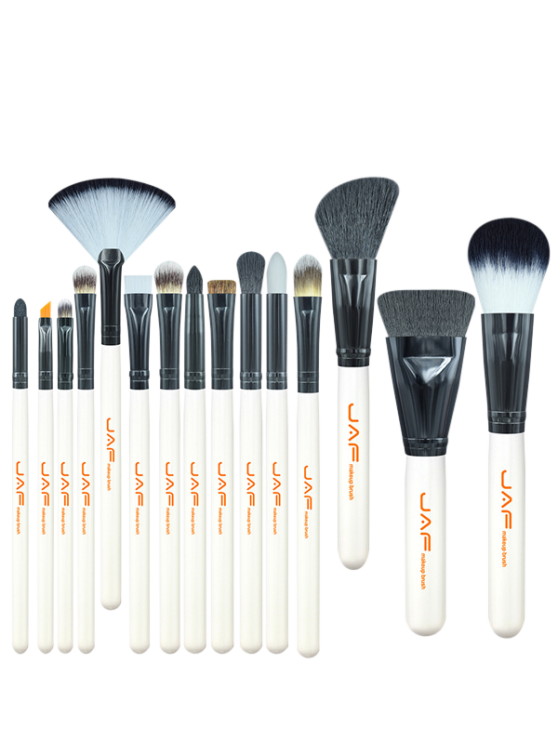online 15Pcs Makeup Brushes Set - WHITE