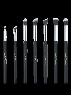 Set De Cepillo De Ojos De Maquillaje 7pcs - Negro