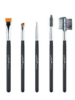 Nylon Beauty Eye Makeup Brushes Set - Black