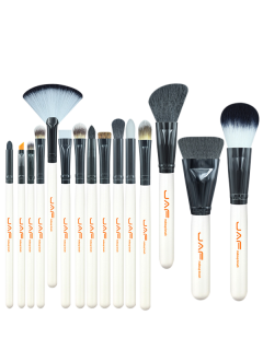 15Pcs Makeup Brushes Set - White