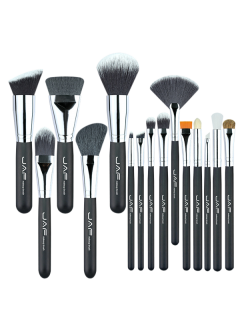Portable Nylon Beauty Makeup Brushes Set - Black