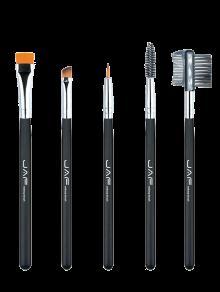 Nylon Beauty Eye Makeup Brushes Set - Black