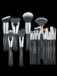 المحمولة النايلون الجمال ماكياج فرش مجموعة - أسود