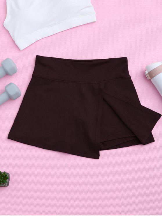 sale Skirted Sporty Shorts - CLARET S