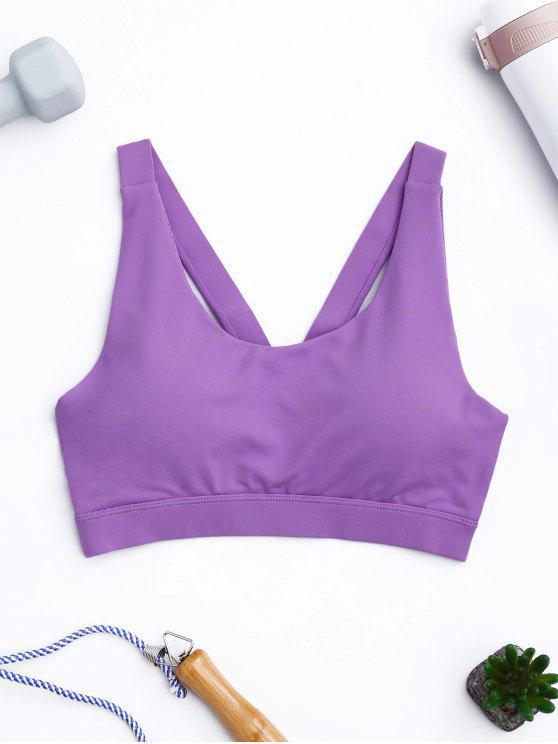 shops Pullover Sport Bra Sweat Top - PURPLE S