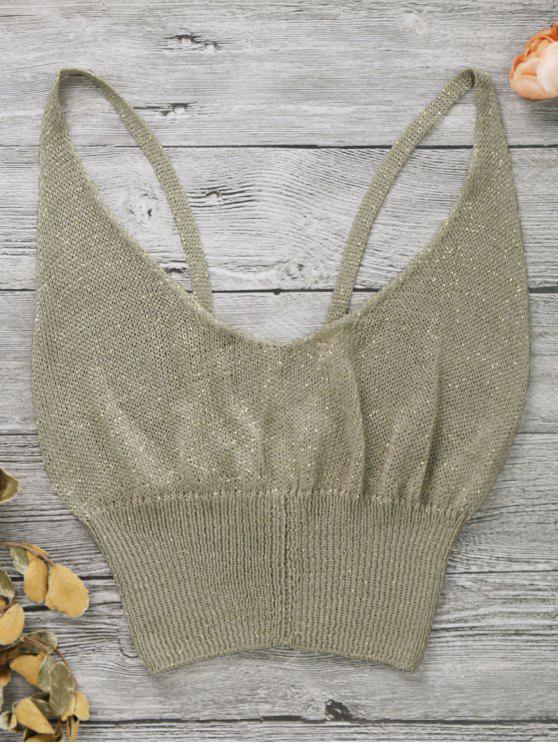 Cuello de algodón sin mangas - Dorado Única Talla