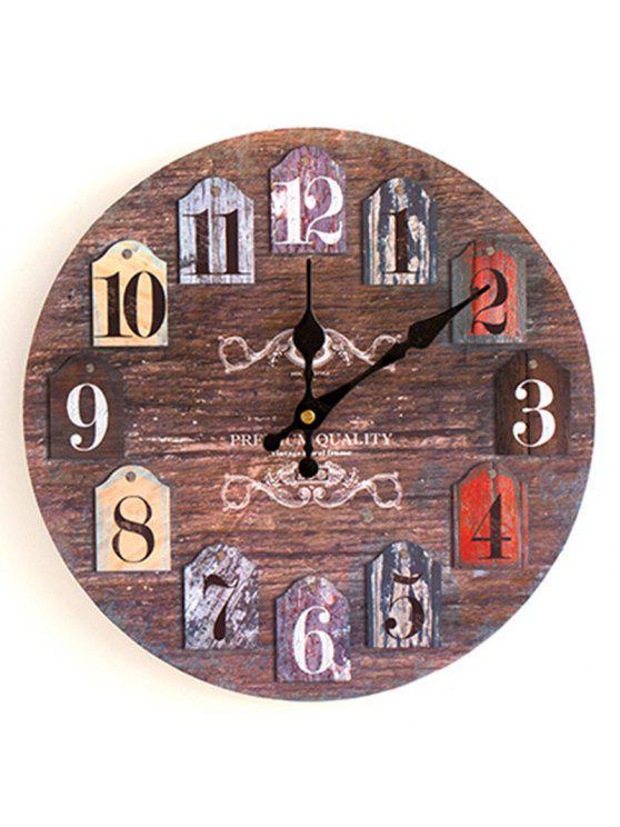 الكلاسيكية التناظرية رقم جولة الخشب ساعة الحائط - روزوود 30 * 30CM