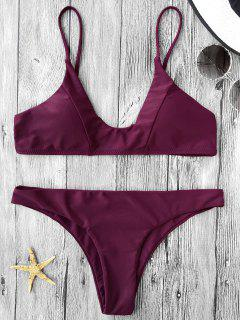 Cami Padded Bikini Set - Burgundy M