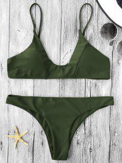 Cami Padded Bikini Set - Army Green S