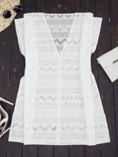 Robe En Tunique Surdimensionnée - Blanc S