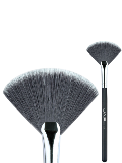 Beauty Makeup Fan Brush - Black