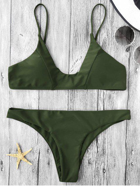 Bikini paddé à bretelles spaghetti - Vert Armée S Mobile