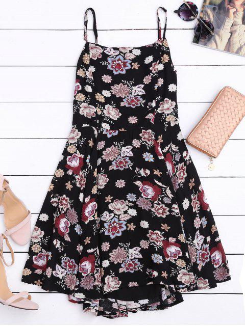 outfits Cut Out Back Floral A-Line Dress - FLORAL M Mobile