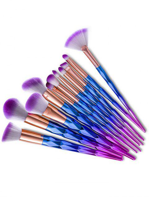 shops 12Pcs Fancy Gradient Color Taper Angular Makeup Brushes Set - BLUE VIOLET  Mobile