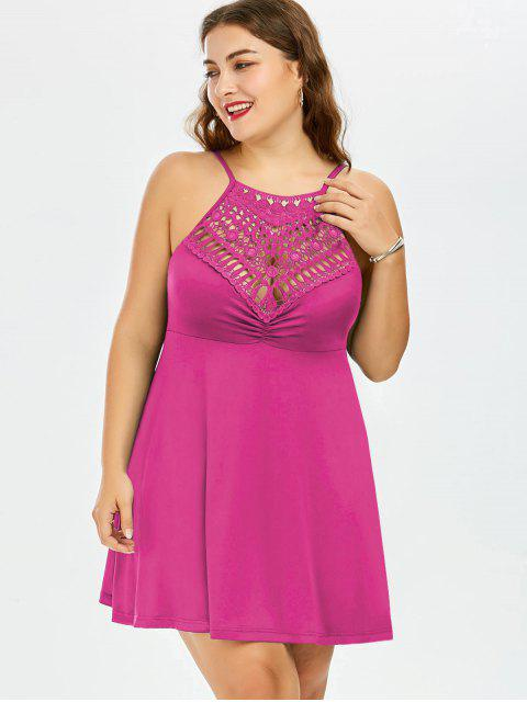 A ligne robe à grande taille en dentelle avec empoècement - Frutti de Tutti 5XL Mobile