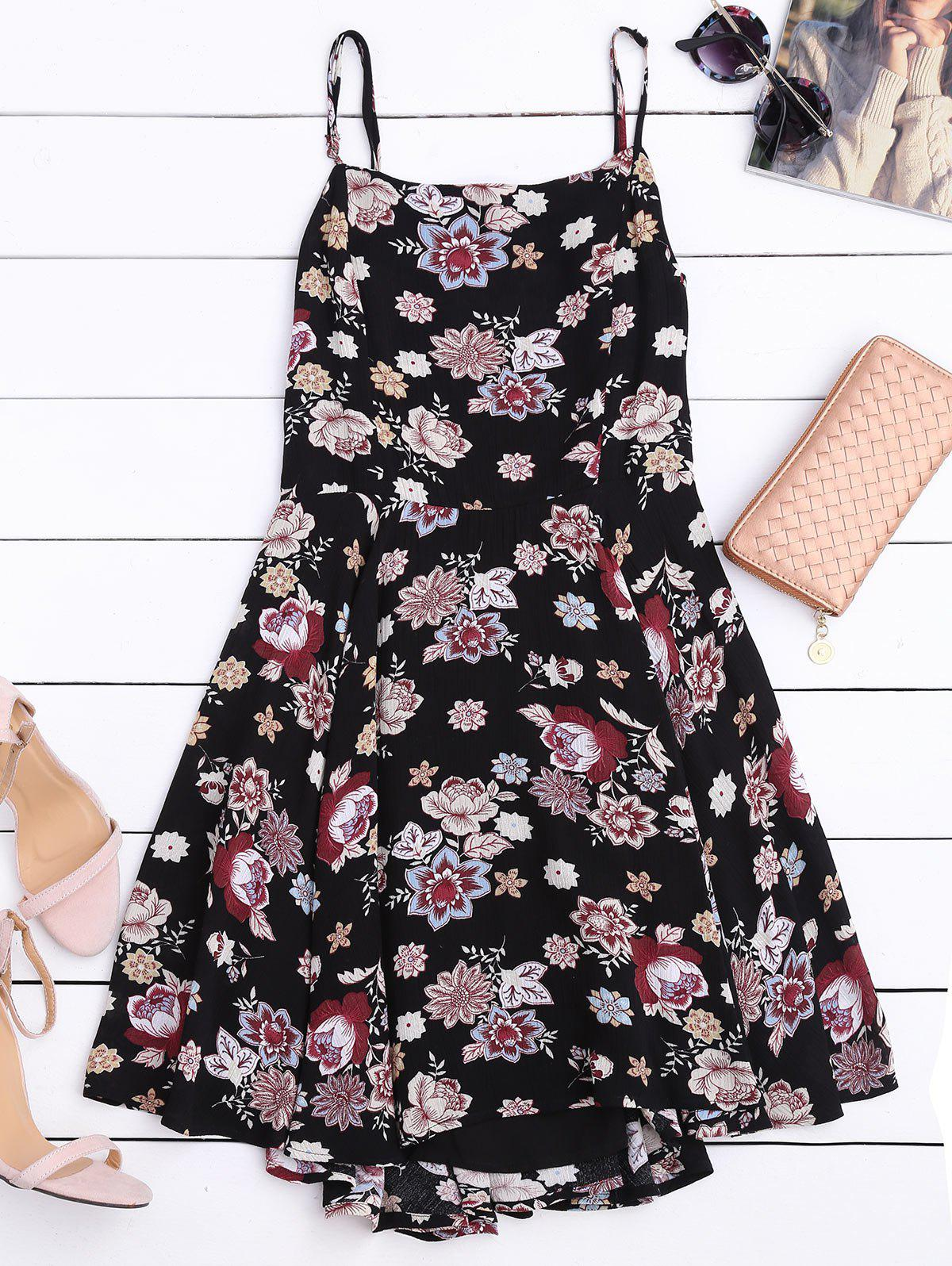 Cut Out Back Floral A-