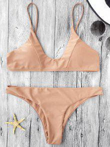 Cami Padded Bikini Set - Light Khaki S