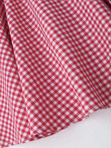 Cuadro Espalda Comprobado Con En Escote De Vestido Mini Xl Pronunciado Anxw8qEUS0