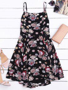 A فستان قطع الظهر زهري بخط  - الأزهار Xl
