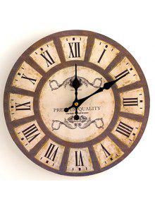 ديكور المنزل التناظرية الخشب ساعة الحائط - خشب 30 * 30cm